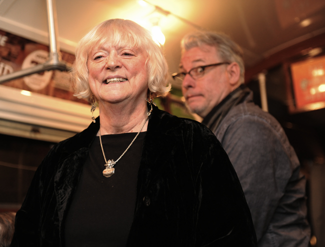 Lois Inman Engel with Michael DeMeng flat