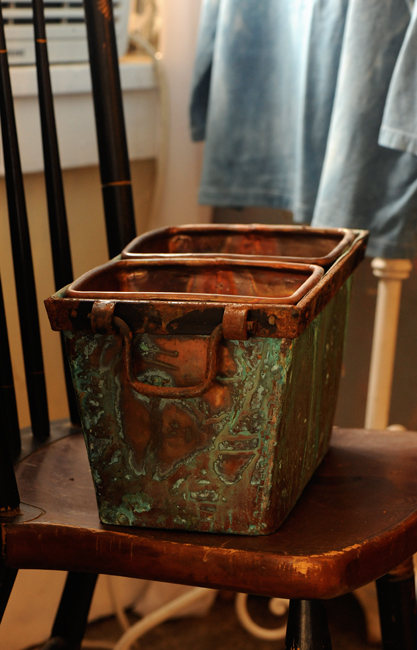 Copper container for sale by Holley Green
