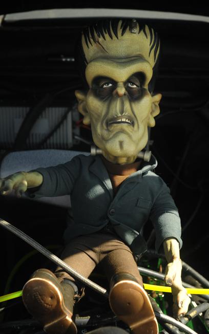 Frankenstein doll at rat rod show