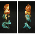 Altered Pez mermaids side and back