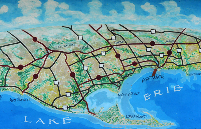 Map of Port Dover