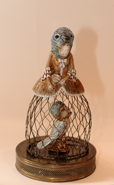 Sharon Ross's assemblage catbird lady