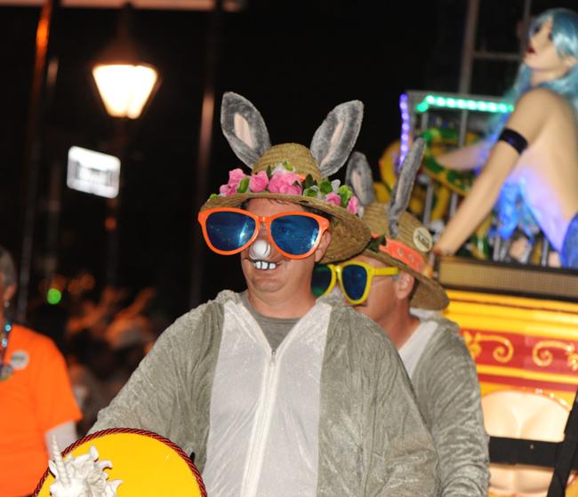 Bunny costume in Krewe Du Vieux 2017