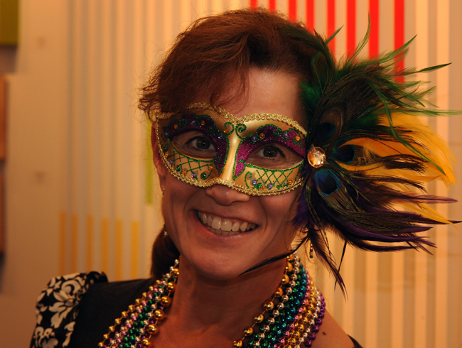 Christine Edwards at Krewe Du Vieux 2017