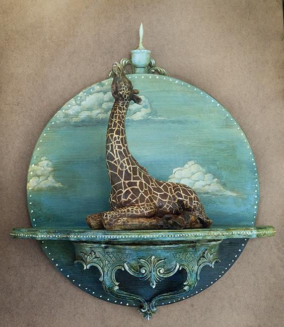 Assemblage giraffe 'Rise Above'