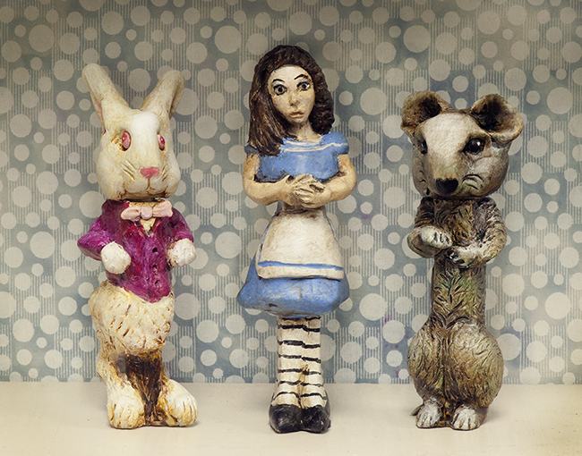 Altered Pez dispensers Alice in Wonderland