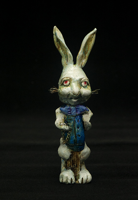Altered Pez dispenser White Rabbit 2
