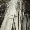 Frozen waterfall at Jefferson National Park