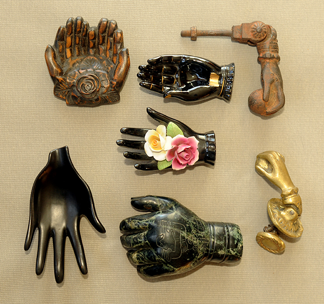 Grandma Lanna's hand collection with door knockers