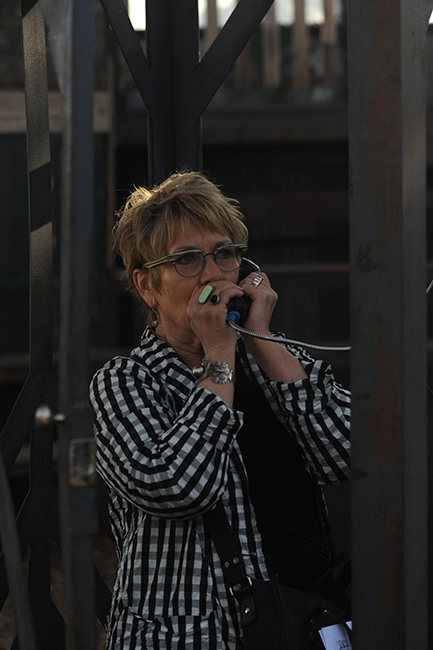 Katherine Engen in phone booth