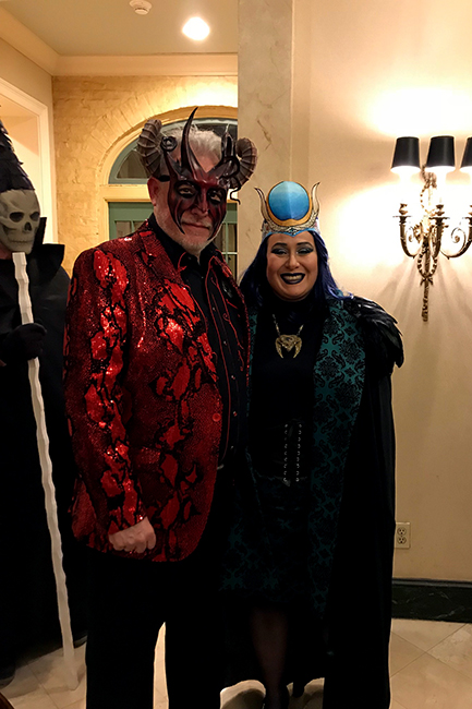 Tarot card costumes Michael deMeng and Andrea