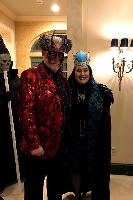 Tarot card costumes Michael deMeng and Andrea