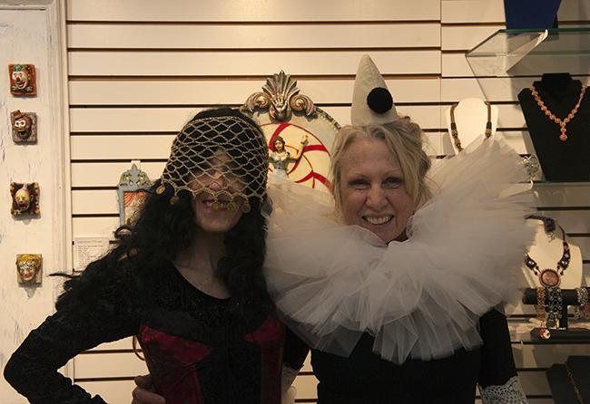 Katie and Karen in costume