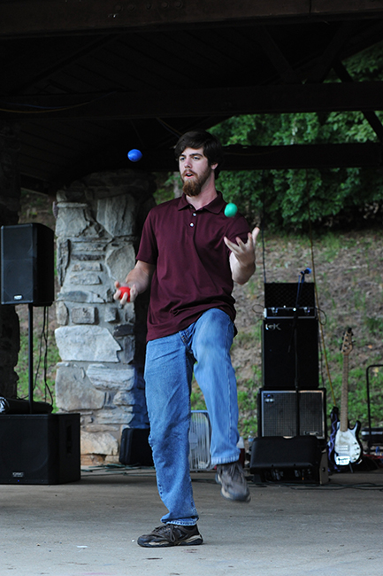 Juggler at Cullowhee talent show