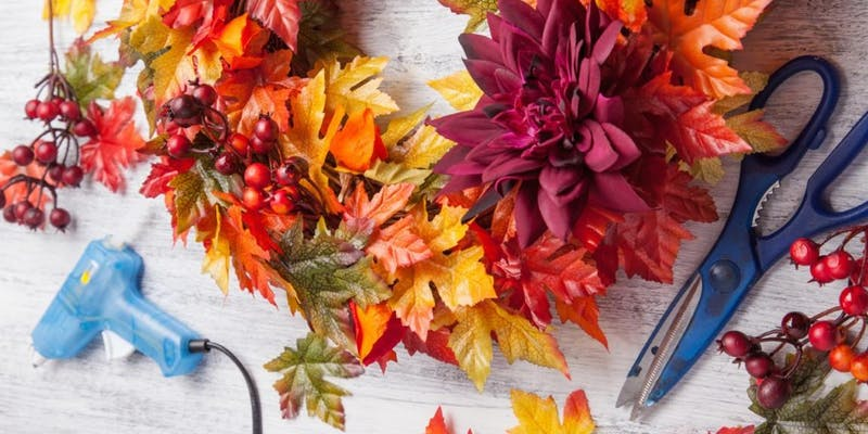 Fall wreath artificial