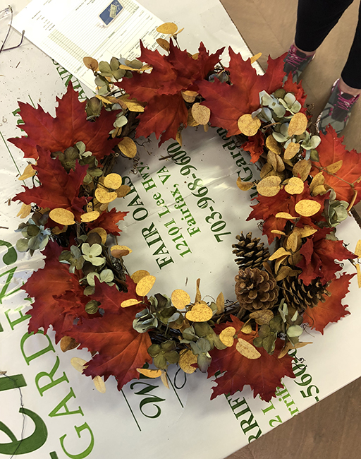 Wreath from workshop at Merrifield