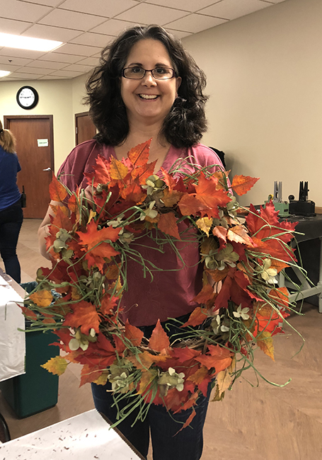 Wreath from workshop artificial