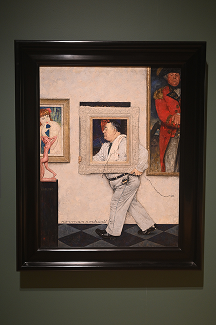 Painting by Norman Rockwell Framed