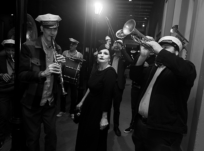 Kelly Harrity with Panorama Brass Band