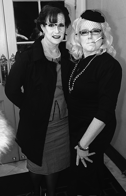 Christine Edwards and Carol Wallace at film noir