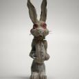 Altered Pez dispenser the white rabbit WIP