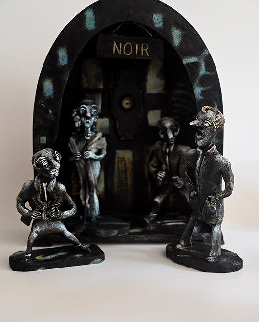Noir assemblage by Karen Rexrode