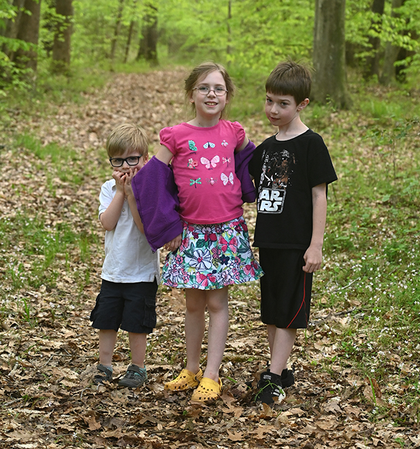 Grandchildren Quinn and Felicity with cousin