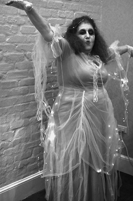 Vicki in costume