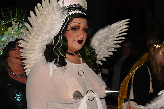 Krewe Boheme white wings