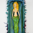 Assemglage mermaid with antique tail