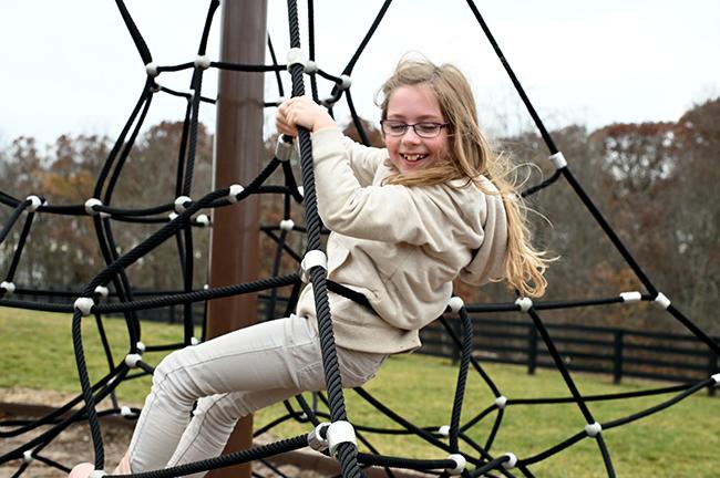 Felicity climbing