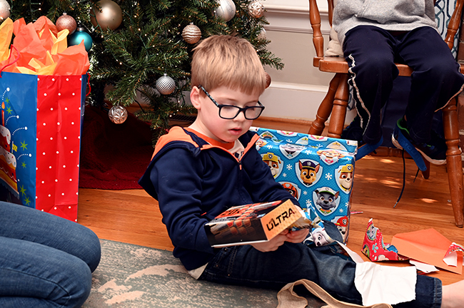 Quinn opening presents