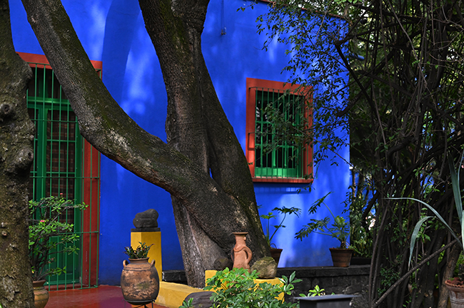 Courtyard of Casa Azul