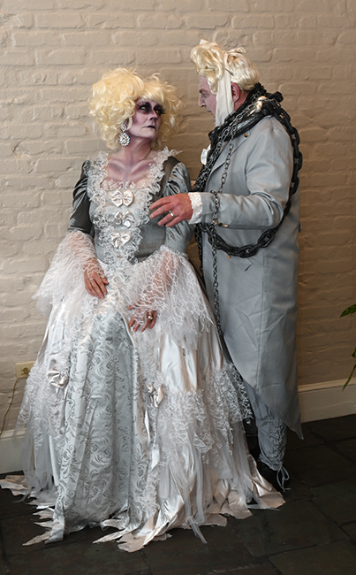 Katherine Engen and Bill in costume