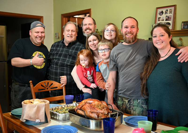 Jeff and company for Thanksgiving 2019