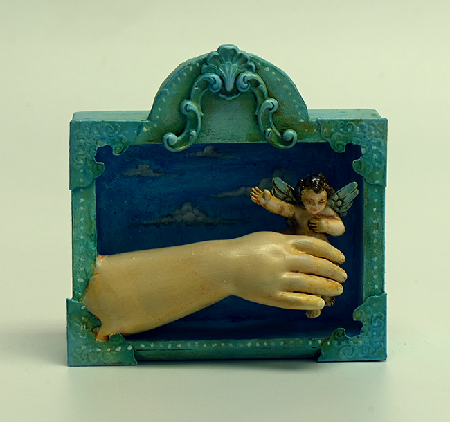 Assemblage 'Catch an Angel Make a Wish'