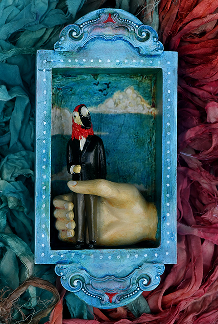Assemblage 'A Bird in Hand' 1