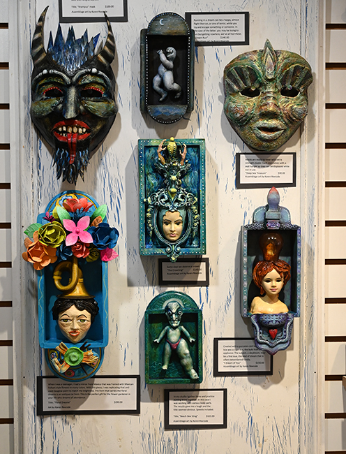 Masks and small works in Dream Show
