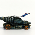 Altered hot wheels with diver