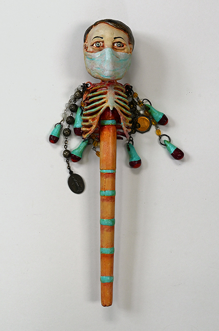 Assemblage 'The Pandemic Wand' wand