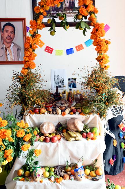 Ofrenda for Day of the Dead in Oaxaca
