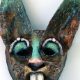 Assemblage mask Mad as a March Hare
