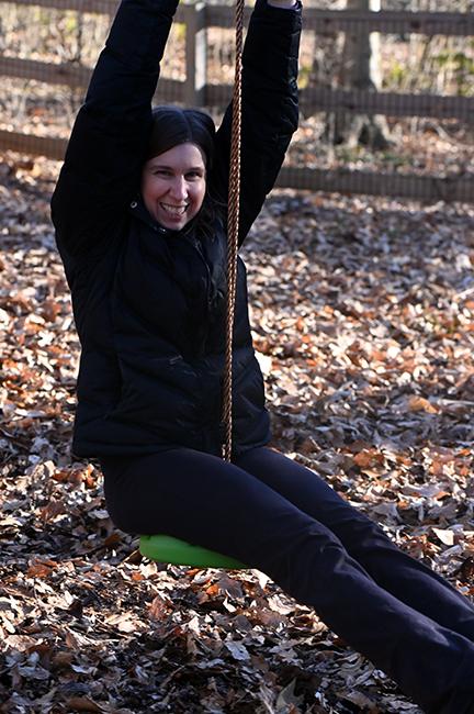 Becky on zipline