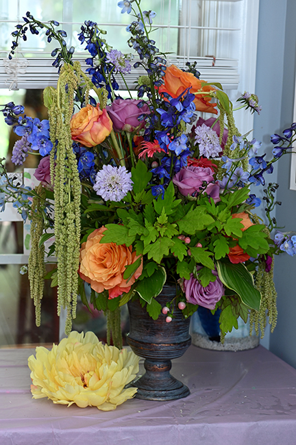 Flower arrangement for Felicity's 10th birthday